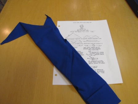 archival uniform tie and instructions