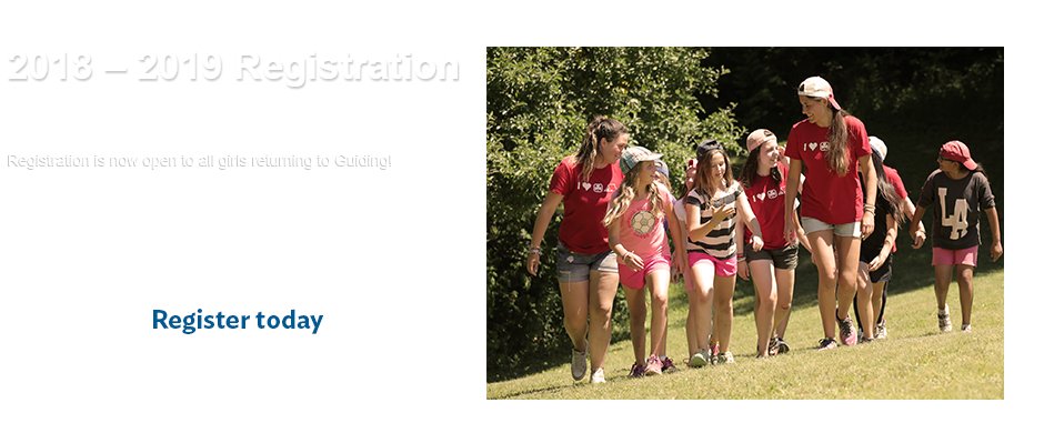 Phase two registration for Girl Guides is now open