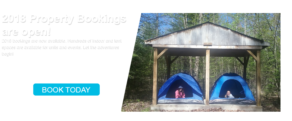 2018 Girl Guides Property Bookings are now open